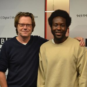 Robert Elms and Caleb Femi