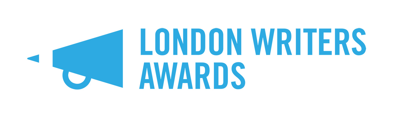 a blue logo for the London Writers Awards
