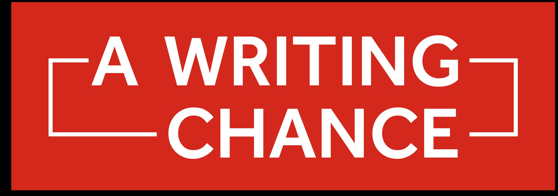 A Writing Chance logo - white writing, black background