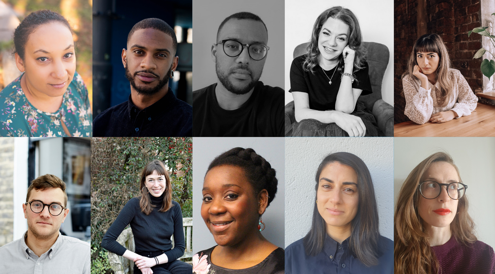 a composite of ten faces - the London Writers Awards Judges 2022